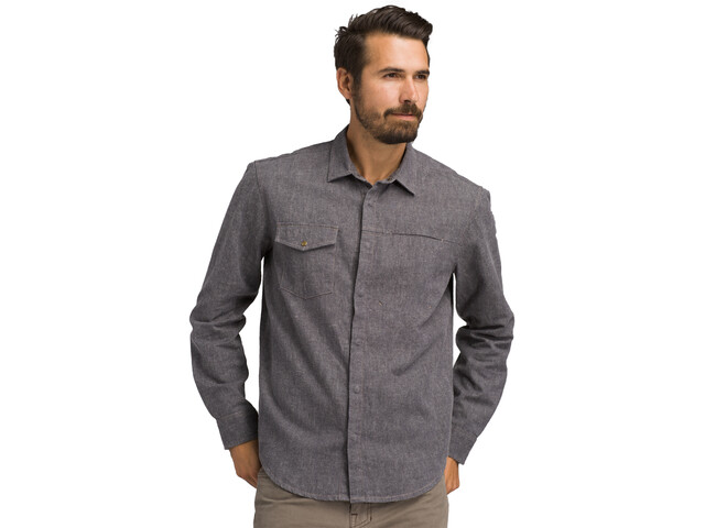 Prana Lenny Longsleeve Shirt Heren, gravel